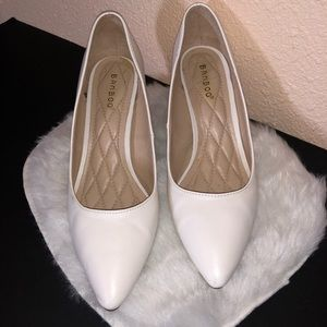 Bamboo • White High Heels • Size: 8 1/2